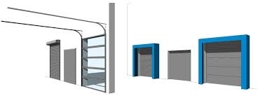garage door with optional dock shelter dock seal with just one single revit family that you can not do with any other revit garage door family