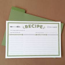 Recipe Cards Templates Classic Recipe Cards Printable By Basic Invite