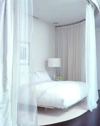 Bed Frame With Curtains Canopy Four Poster Bed Frame Curtains ...