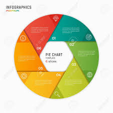 Infographic Chart Vector Circle Chart Infographic Template 6 Options Steps Part
