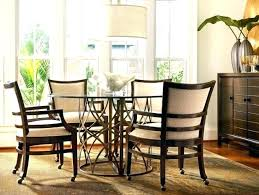 dining room table with swivel chairs. dining room table chairs casters rolling swivel chair sets with s