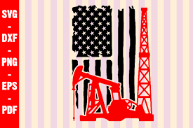 Download icons in all formats or edit them for your. Oilfield American Flag Cut File Graphic By Creativeshohor Creative Fabrica