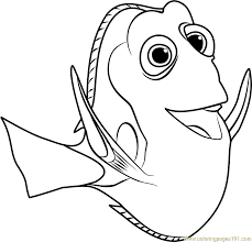 Small Picture Dory Coloring Page Free Finding Dory Coloring Pages