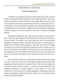 Statement Of Purpose Graduate School Sample Essays Education Essay