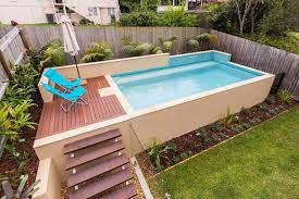 Image Pool Deck Backyard Small Above Ground Swimming Pool Eye Catching And Affordable Above Ground Swimming Pool Pinterest Backyard Small Above Ground Swimming Pool Outdoor Swimming Pools