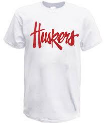 Huskers Script Tee - White
