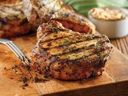 grilled pork chops with basil garlic