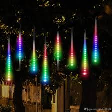 Christmas Motion Icicle Lights Led Meteor Shower Rain Lights Drop Icicle Snow Falling Raindrop 30cm 8 Tubes Waterproof Cascading Lights For Wedding Xmas Home Decor Led Light Strings