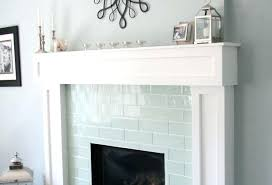 idea glass tile fireplace surround and best glass tile fireplace ideas on 66 blue glass tile