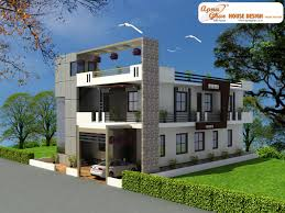 4 bedroom, modern duplex (2 floor) house design. Area: 216 sq