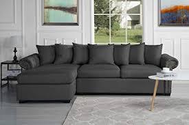 modern fabric sectional sofas. Modren Sofas Modern Large Tufted Linen Fabric Sectional Sofa Scroll Arm LShape Couch  Dark For Sofas I