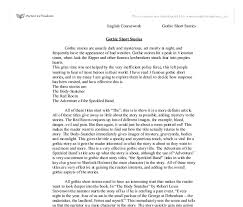 gothic short stories a level english marked by teachers com document image preview
