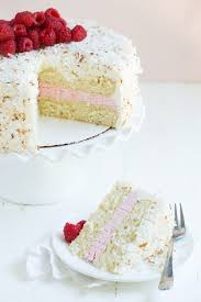 Coconut Cake With Raspberry Buttercream Filling And Coconut