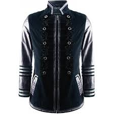 mens luxury admiral style military navy leather jacket