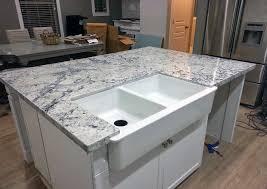 ice white granite kitchen island