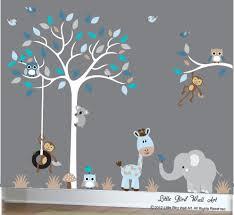 baby boy wall decal nursery white tree