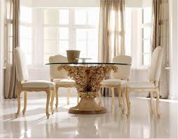 furniture fancy dining room design idea with glass top table with cool great dining room chairs