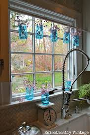 Ways To Decorate Glass Jars Simple Ways To Decorate With BlueTinted Mason Jars 57