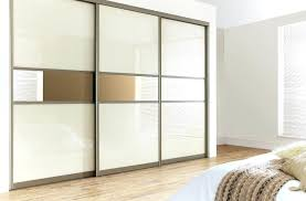 three panels mirrored sliding door wardrobe small glass use amount luxurious traditional bedroom furniture concept floor