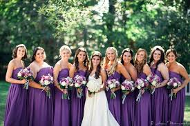 wedding makeup for bridesmaids with purple dresses