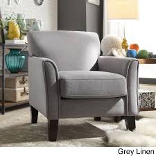 TRIBECCA HOME Uptown Modern Accent Chair Mocha Microfiber