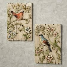 Metal Wall Decorations For Living Room Awesome Decorative Metal Wall Plaques With Bird Image Couple Birds
