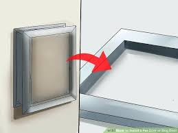 installing a dog door image titled install pet or step in metal