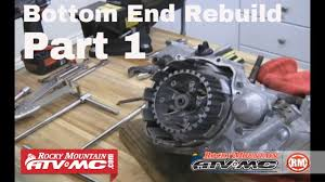 motorcycle bottom end rebuild part of engine teardown motorcycle bottom end rebuild part 1 of 3 engine teardown