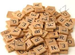 Wooden Board Games Uk 100 Wooden Scrabble Tiles Letters Craft Alphabet Board Game Fun 68