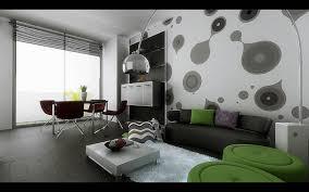 Wallpaper Idea For Living Room Retro Living Room Wallpaper Ideas With Queer Shapes Semudan Home