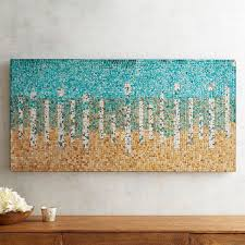 pier 1 imports teal abstract mosaic