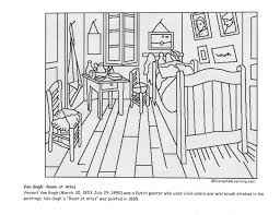 Small Picture Vincent van Goghs Bedroom at Arles coloring page Coloring Pages