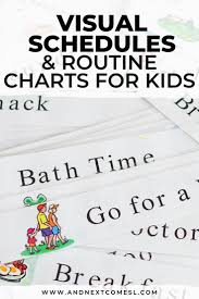 If Then Chart Autism Visual Schedules Routine Charts For Kids Visual