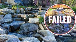waterfall failure how to build a pond