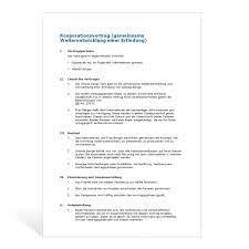 Einen kooperationsvertrag geschlossen, wobei sie ihr zur zeit dienstleistungen gewährt, die. Muster Kooperationsvertrag F E