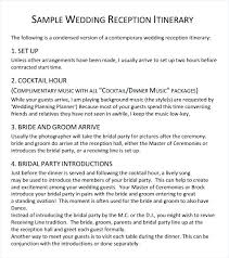 Wedding Agenda Template Wedding Reception Program Template Free Related Post Wedding