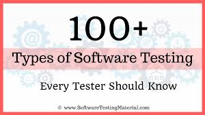 Types Of Software Testing 100 Types Of Software Testing Complete List Software