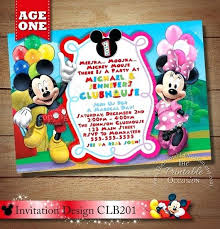 Mickey Mouse Clubhouse 2nd Birthday Invitations Mickey Mouse Clubhouse Party Invitations B2me