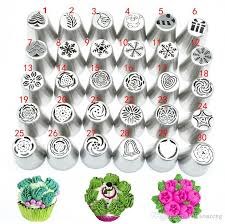 Christmas Icing Piping Tips Set Cake Decorating Supplies Russian