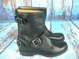 frye veronica back zip short black leather motorcycle 76603 women s 5 5 b footwear boots sidelineswap