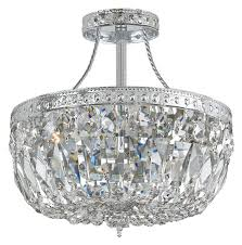 crystorama 119 10 ch cl mwp traditional crystal semi flush mount chrome loading zoom