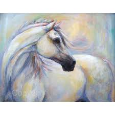 white horse painting horse oil painting on canvas heavenly horse 40 liked on polyvore featuring home home decor wall art white home acces