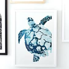 lovely sea turtle wall art