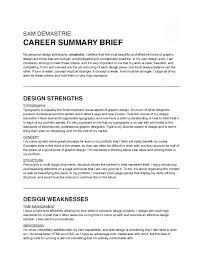Career Summary Resume Blaisewashere Com