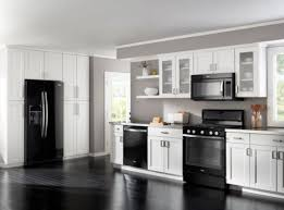 permalink to white kitchen cabinets with black appliances