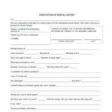 employment history verification form template landlord verification form template rental employment