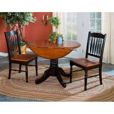 42 round double drop leaf dining table a america image for gallery