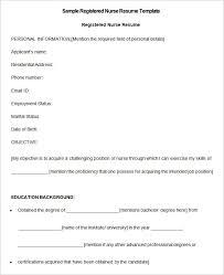 Nursing Resume Templates Free Best Nursing Resume Template Free JmckellCom