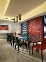 room fabio black modern: photos hgtv modern dining room with red glass feature wall