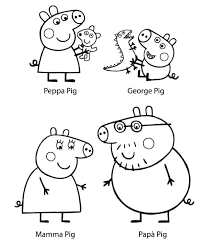 Peppa Pig Kleurplaat Related Post Shshiinfo